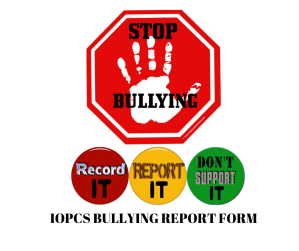 Anonymous Bullying Incident Report